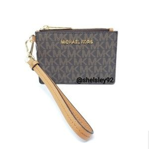 Michael Kors Brown Wallet Wristlet